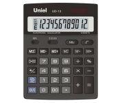 """Калькулятор 12 разрядов, двойное питание, двойная память, вычисления процентов и квадратного корня, функция """"Торговая наценка"""", отмена последнего символа, размер: 178*140*30 мм арт UD-13 Uniel"""