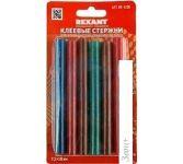 Клеевые стержни Rexant 09-1230 (12 шт, разноцветный)