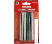Клеевые стержни Rexant 09-1025 (12 шт, разноцветный с блестками)