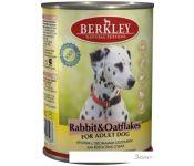 Консервированный корм для собак Berkley кролик с овсянкой 400 г