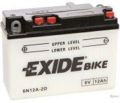 Мотоциклетный аккумулятор Exide 6N12A-2D (12 А·ч)