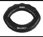 Кистевой эспандер 40 кг, овальной формы, черный (Resistance bands 80 LB) SF 0575