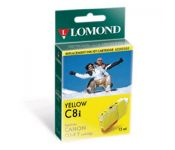 Струйный картридж Lomond CLI-8 желтый (с чипом) для Pixma iP6600D/iP4200/5200/5200R