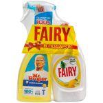 """Промонабор: Универсальный чистящий спрей Mr.Proper """"Лимон"""", 500мл + Средство для мытья посуды Fairy """"Лимон"""", 450мл"""