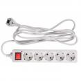 Сетевой фильтр Buro 500SL-3-G 3м (5 розеток) серый (пакет ПЭ)