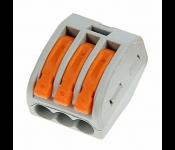 Соединительная клемма 2,5мм2 3провода  (100/3600) СК-413