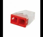 Строительно-монтажная клемма 2 провода с пастой 2,5мм2 (аналог WAGO) (50/10 000) КМБ-2273-232