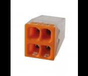 Строительно-монтажная клемма 4 провода с пастой 2,5мм2 (аналог WAGO) (50/5000) КМБ-2273-244