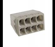 Строительно-монтажная клемма 8 проводов с пастой 2,5мм2 (аналог WAGO) (50/5000) КМБ-2273-248