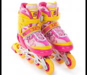 Роликовые коньки Start Up Style р.S 31-34 Pink-Orange 341 505