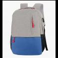 Рюкзак Ecos Городской, серый/синий 15л, с USB портом