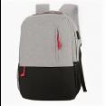 Рюкзак Ecos Городской, серый/черный 15л, с USB портом