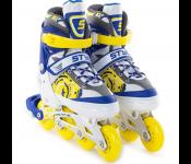 Роликовые коньки Start Up Style р.M 35-38 Blue-Yellow 341 506