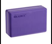 Блок для йоги фиолетовый SF 0409