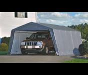 Гараж SHELTERLOGIC 62649  3.7x6.1x2.4м в коробке 87.7кг скатная крыша серый тент