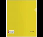 Папка-уголок Berlingo А4, 180мкм, прозрачная желтая, индив. ШК