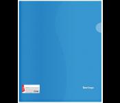 Папка-уголок Berlingo А4, 180мкм, прозрачная синяя, индив. ШК