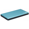 Мобильный аккумулятор GP Portable PowerBank MP10 синий Li-Pol 10000mAh 2.4A+2.4A+3A синий 2xUSB