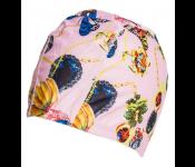 Шапочка для плавания (полиэстер), розовая SF 0319