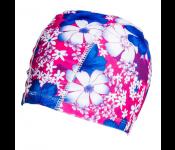 Шапочка для плавания (полиэстер), розово-синяя SF 0313