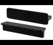 Ручка Ikea ХАККОС (603.549.65) антрацит, 100 мм, 2шт