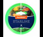 Леска для триммеров PATRIOT Starline D 3,0мм L 15м  звезда, зеленая 300-15-3  Арт. 805201066