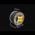 Удлинитель ИЭК УК30 Professional  на катушке 4 гнезда с/з 30м (КГ 3х1,5) метал. с термозащитой