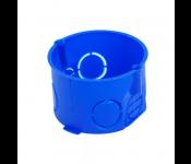 Коробка установочная приборная без стыковочных узлов и винтов, IP20, 400W, полипропилен, синий 010-001