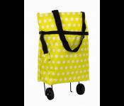 Хозяйственная складная сумка с выдвижными колесиками, горошек TD 0518