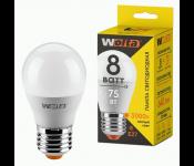 Лампа LED шар 8Вт 3000К Е27 30Y45GL8E27