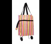 Хозяйственная складная сумка с выдвижными колесиками, полоски TD 0516