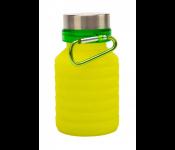 Бутылка для воды силиконовая складная с крышкой и карабином, 500 мл TK 0271
