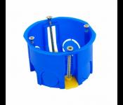 Коробка установочная приборная для полых стен с пластмассовыми лапками, IP20, 400W, синий 020-011