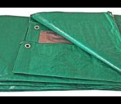 Тент Biber универсальный полимерный влагозащитный c люверсами 4x6м 93283 тов-156786