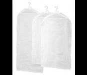 ПЛУРИГ Чехол для одежды, 3 штуки, прозрачный белый  (102.872.52)