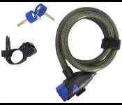 Велозамок Oxford Key Coil 15 / LK285 (серый)