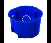 Коробка установочная приборная со стыковочными узламм и винтами, IP20, 400W, полипропилен, синий 010-044