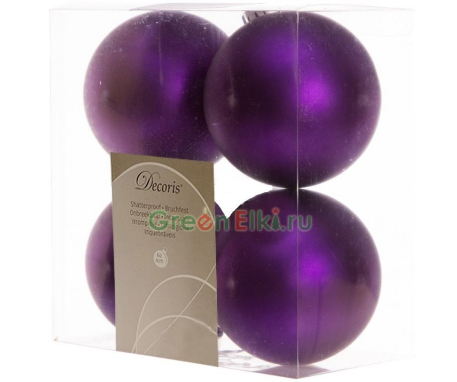 Kaemingk Набор шаров Violet 4шт 958131m