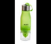 Бутылка для воды с соковыжималкой 0,6 л, салатовая SF 0520
