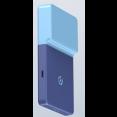 Беспроводное зарядное устройство Xiaomi Rui Ling Power Sticker LIB-4 (2600 mAh, голубой)