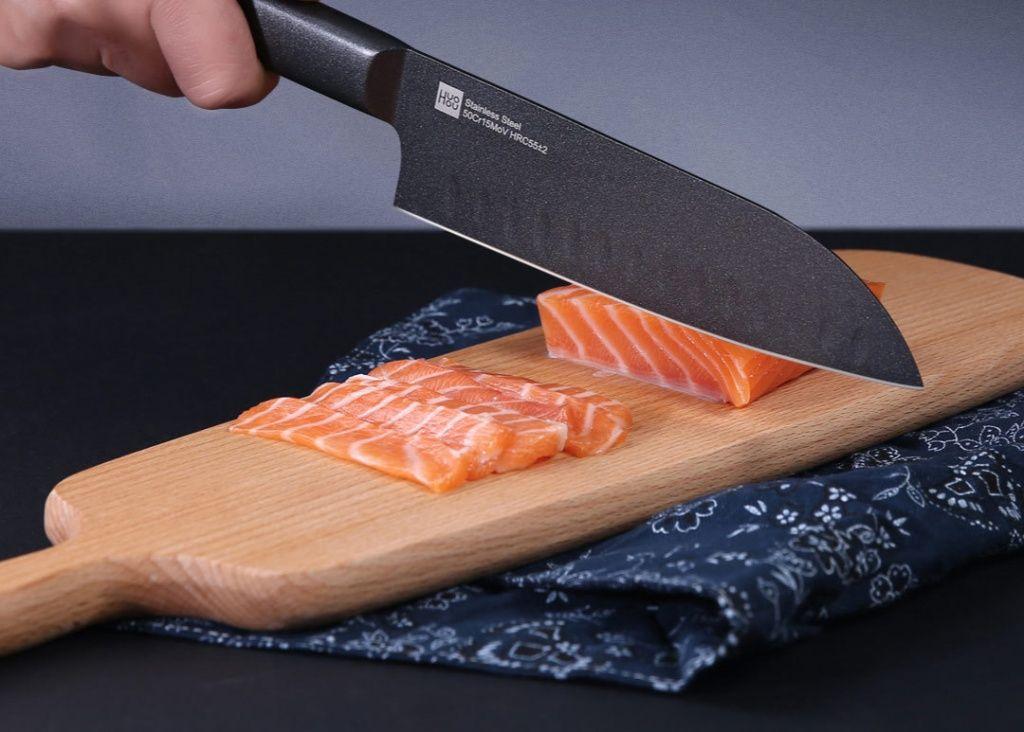 Набор кухонных ножей  Xiaomi Huo Hou Black Heat Knife Set (2 psc)